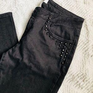 F21 Gorgeous Black Studded Jeans